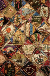 "These ""crazy quilts"" are beautiful on their own, especially this fine museum piece.  However, I feel the eye doesn't quite know where to land.  Hence my analogy:  House as a Quilt"