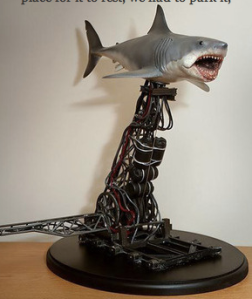 A model made of Bruce the mechanical shark from Jaws