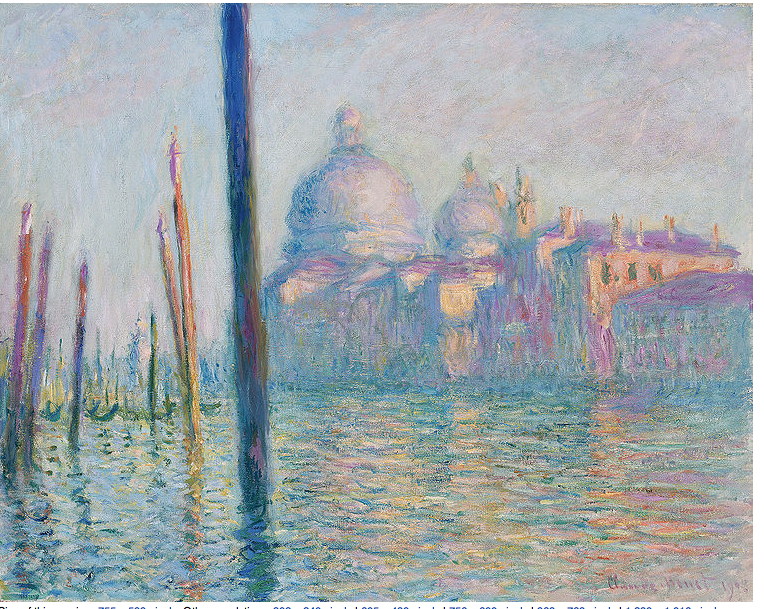 Monet's Le Grand Canal