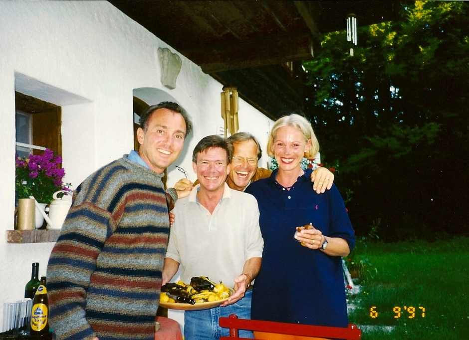 Joseph, Tim, Heiner and Verena outside for dinner. We ate all meals outside there. Wonderful!