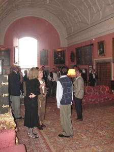 Receiving Hall before Dinner .. Son at my right.  Yes, I always stand like that ;)
