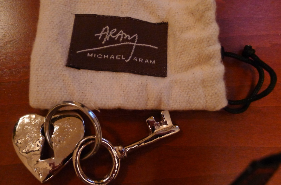 Oooo look!  Heart/Lock/Key  Keychain from Michael Aram!