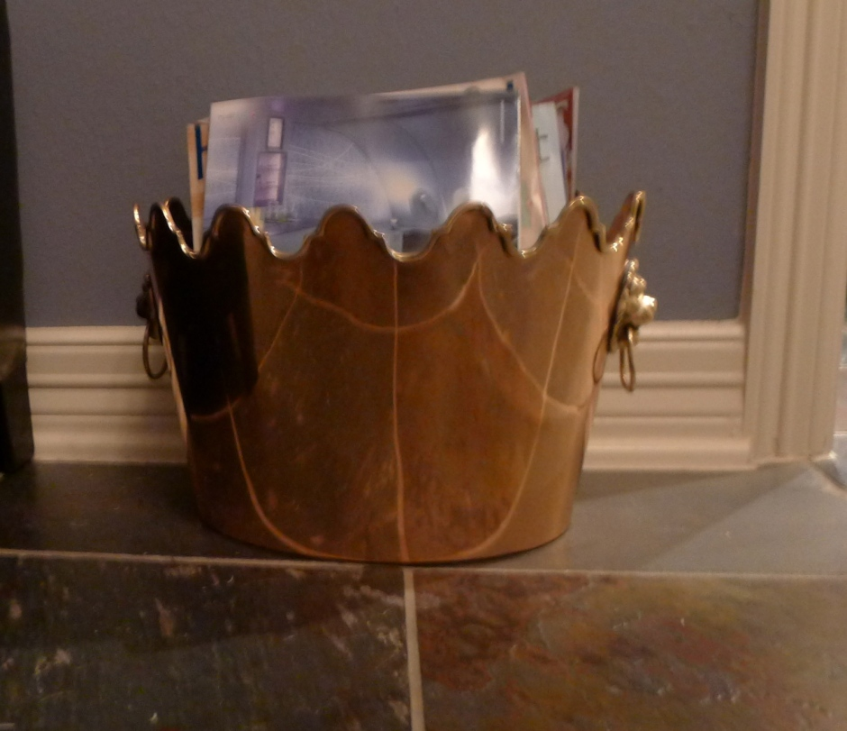 Oh, and also:  I use wine buckets for magazine holders.  They have such a nice shape.