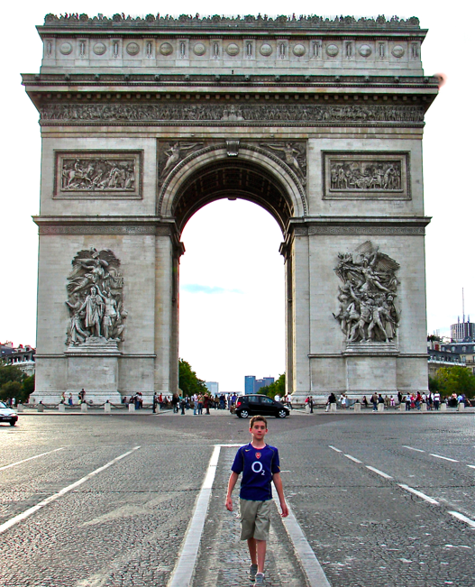 THOUGHT I'D SHARE AN IMAGE OF MY SON IN PARIS IN 2005. THIS WAS HIS SECOND TRIP THERE AND IT MAKES ME SO HAPPY TO SHARE THESE WONDERFUL EXPERIENCES WITH HIM. AND HUSBAND TOO, OF COURSE.