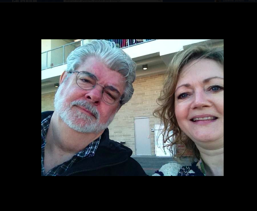 This is an awful picture of me.....but George Lucas looks fantabulous *ahem*